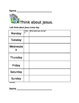 Think about Jesus
