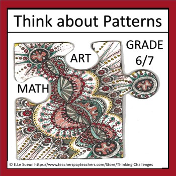 Literacy Center activities: Think about PATTERNS
