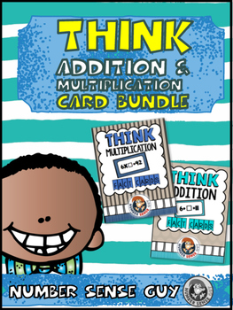Think addition and think multiplication flash card bundle
