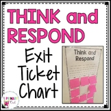 Think and Respond: Editable Exit Ticket Chart