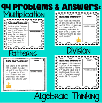 Think and Thumbs Up- Math Talk (Mathematical Mindsets)