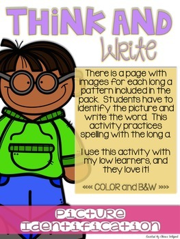 Think and Write - Digraphs th, wh, ch, sh