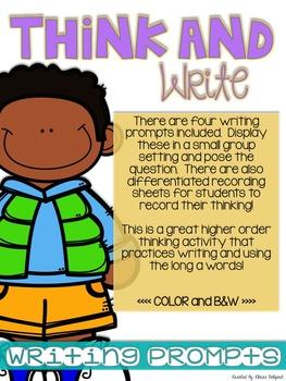 Think and Write - Long A - ai, ay, a_e