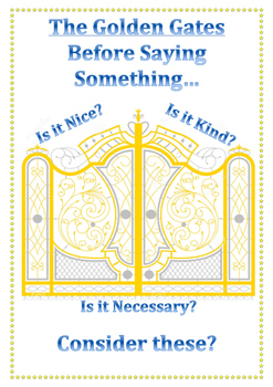 Think before you speak Golden Gates