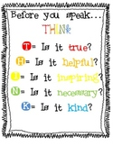 Think before you speak poster