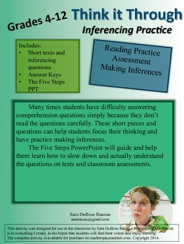 Think it Through! Inferencing and Reading Practice