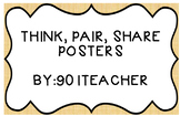 Think, pair, share posters