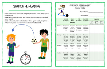FREEBIE: Fun soccer skills assessment lesson with extension activities!
