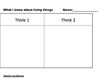 Think1 and Think2 - a visible thinking assessment tool for any subject
