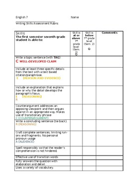 ThinkCERCA Editing Checklist to be used with any CERCA set