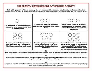 ThinkDots Activity: 50 States