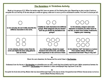 ThinkDots Activity: The Outsiders