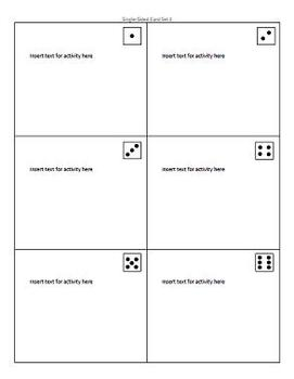 ThinkDots Cards Template (Task Cards Template)