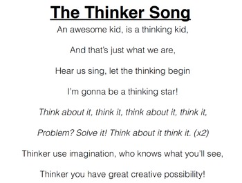 Thinker Song