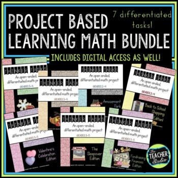 Project Based Learning Math Problem Solving BUNDLE (PBL)   Distance Learning