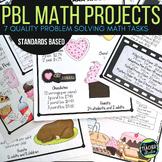 Project Based Learning Problem Solving Math Task BUNDLE  
