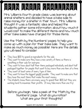 Project Based Learning Math Problem Solving: A Fundraiser Project (PBL)