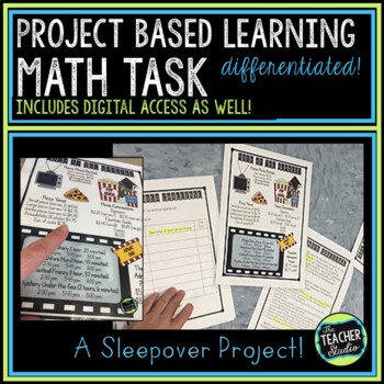Thinker Tasks:  A Sleepover Math Project Grades 3-5