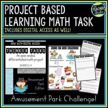 Project Based Learning Math Problem Solving: Amusement Park |Distance Learning