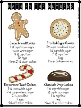 Project Based Learning Math Problem Solving:  Holiday Cookie Project (PBL)