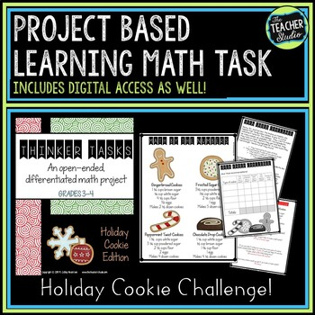 Thinker Tasks:  Holiday Cookie Math Project Grades 3-5