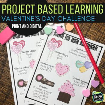 Thinker Tasks:  Valentine Celebration Math Project Grades 3-5