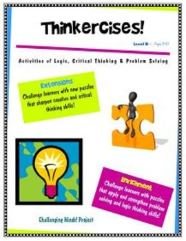 Thinkercises (FREE Sample Pages) Activities of Logic & Problem Solving