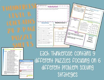 Thinkercises (Level B)  Activities of Logic, Critical Thinking & Problem Solving