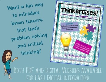 Thinkercises (Level B2) Activities of Logic, Critical Thinking & Problem Solving