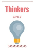 Thinkers Only Poster