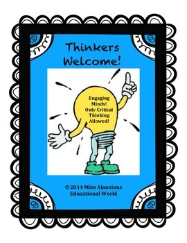 Thinkers Welcome! Classroom Management and Thinking Skills Tool!