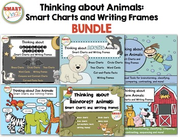 Thinking About Animals: Smart Charts and Writing Frames BUNDLE