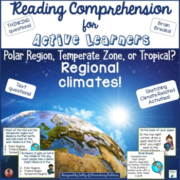 Polar Temperate and Tropical Regions  Reading Comprehension for Active Learners