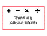 Thinking About Math Discussion Posters