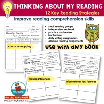 Thinking About My Reading - Book and Story Questions- For Any Book