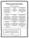 Thinking About Nonfiction: Choice Board