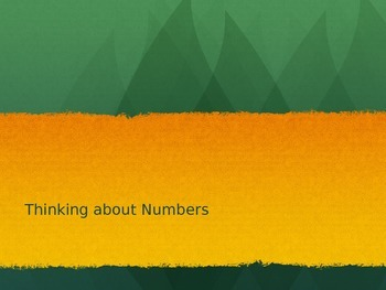 Thinking About Numbers and Number Sense