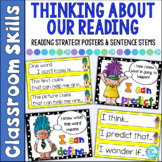 Reading Strategy Sentence Stem Starters for Reader's Workshop