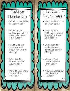 Thinking About Reading Thinkmarks