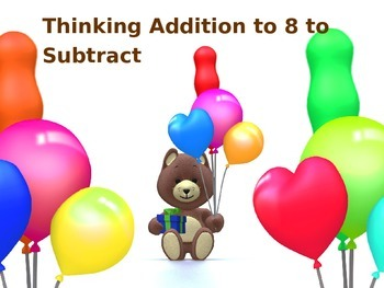 Thinking Addition to 8 to Subtract PowerPoint