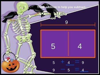 Thinking Addition to Subtract PowerPoint (Sums and Differences to 12)