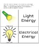 Forms of Energy Interactive Word Wall/Sort: Part 1, 2