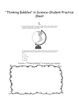 Science Thinking Bubbles