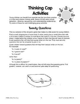 Thinking Cap Activities in Math and Language Arts