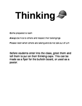 Thinking Cap Poster