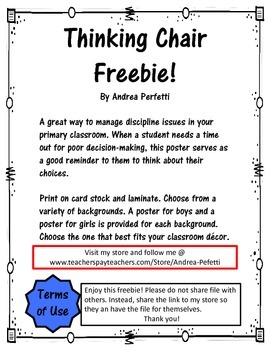 Thinking Chair Poster Freebie