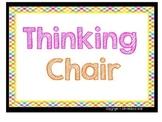 Thinking Chair/Get Ready Chair