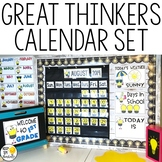 Calendar Set - Editable! Great Thinkers Classroom Decor