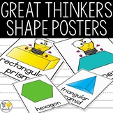 2D and 3D  Shape Posters - Editable Great Thinkers Classro