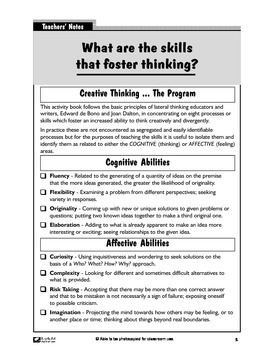 Thinking Creatively 3: A Course in Creative and Applied Thinking Skills